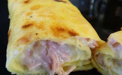 Crêpes jambon-fromage maison