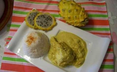 Saumonette au massalé, curcuma et lait de coco