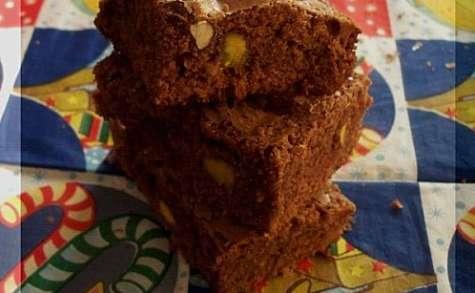 Brownies facile au noisette et pistache