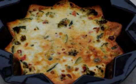 Tarte aux courgettes, brocolis et chèvre sans pâte