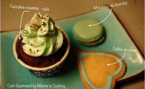 Cupcakes noisettes-café pour café gourmand