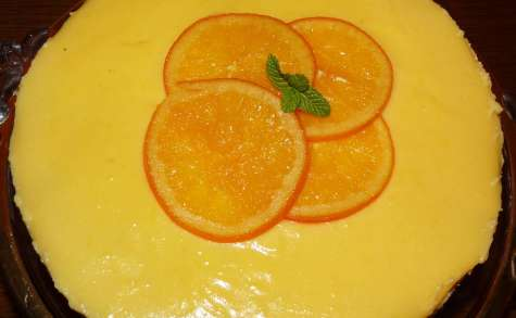 Cheesecake à l'orange et sa crème