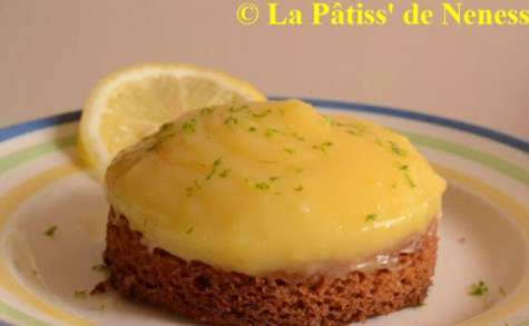 Tartelette citron sur sablé breton