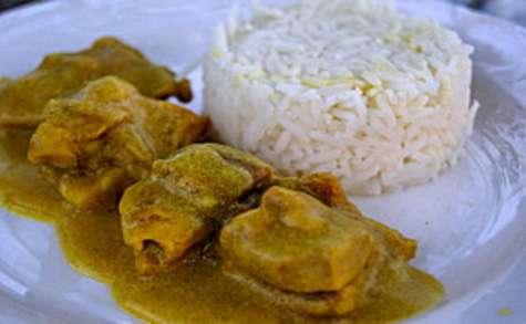Poulet au curry au lait de coco