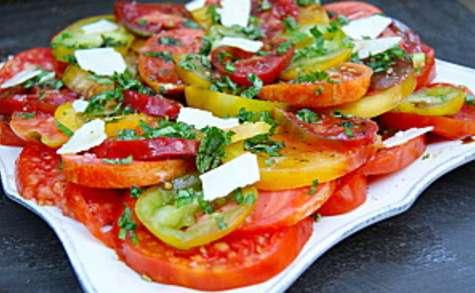 Salade de tomates anciennes