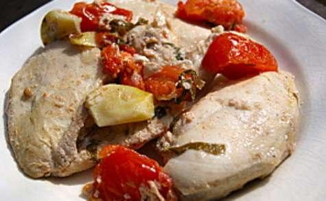 Escalopes de poulet marinées