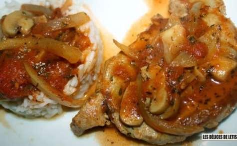 Côte de porc à la provençale