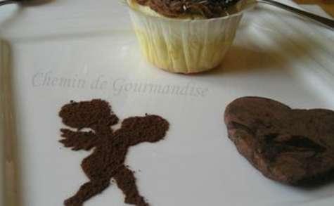 Cupcakes noix de coco & ganache chocolat au lait