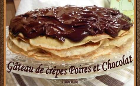 Gâteau de crêpes Poires et Chocolat