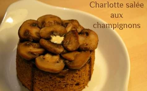 Charlotte salée aux Champignons