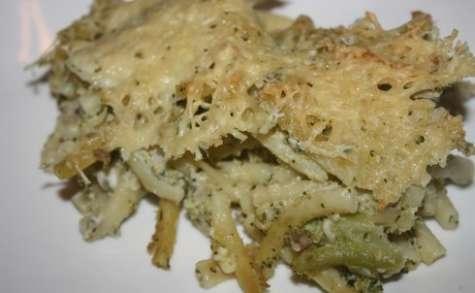 Gratin de pâtes, brocolis, thon & féta