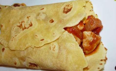 Tortillas poulet sauce tomate