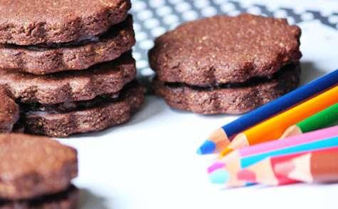 Biscuits chocolat orange à la farine de châtaigne