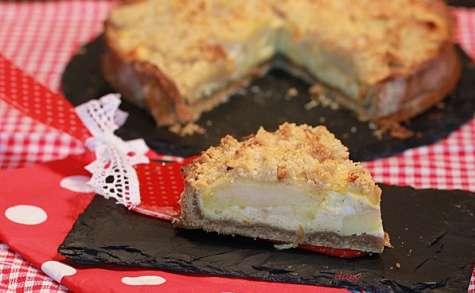 Tarte aux pommes à la crème vanille en crumble