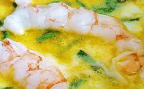 Tortilla fine asperges sauvages et gambas