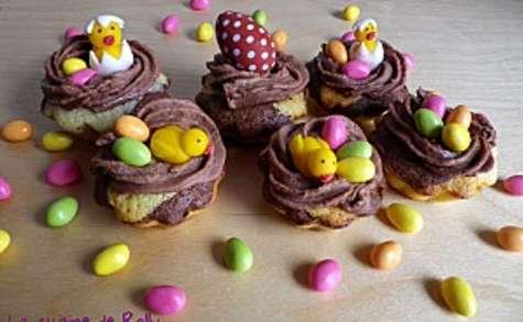 Cupcakes de Pâques aux 3 chocolats