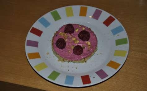 Biscuit pistaché et crème framboisée