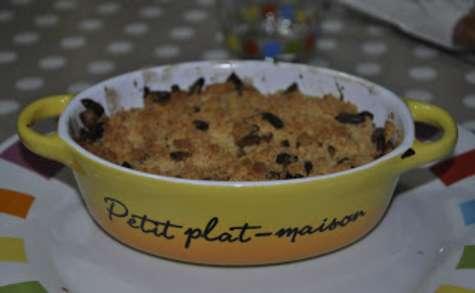 Crumble de légumes, pignons et parmesan