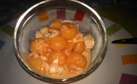 Salade de melon et mozzarella au piment d'espelette