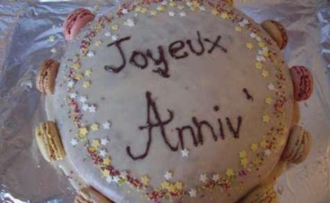 Gâteau d'anniversaire vanille/framboise