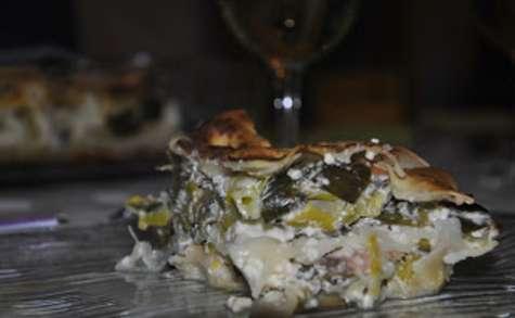 Lasagnes aux poireaux et aux deux saumons