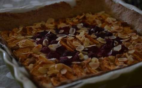 Tarte pommes/framboises/amande
