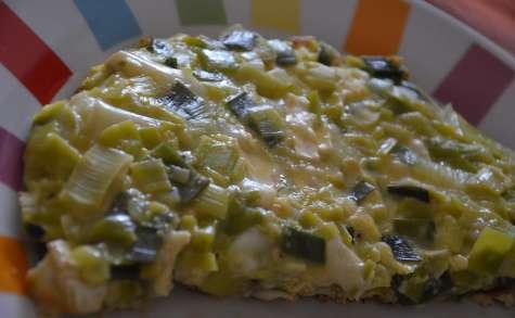 Omelette poireaux/chèvre
