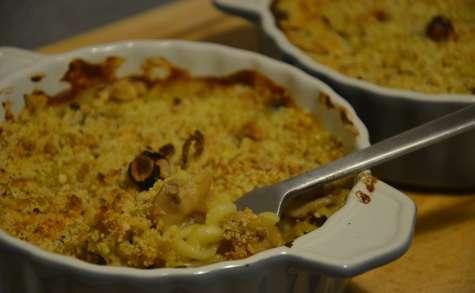 Gratin de pâtes à la béchamel de légumes