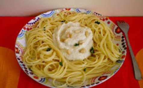 Spaghetti sauce crémeuse aux artichauts et ricotta