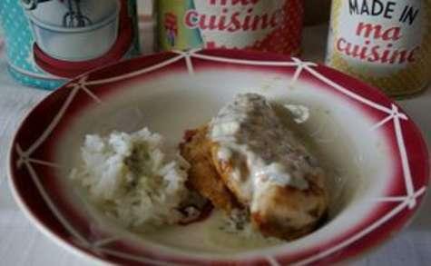 Poulet grillé sauce poire roquefort