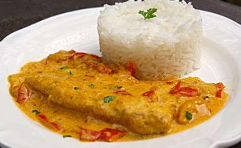 Filet de poisson au curry