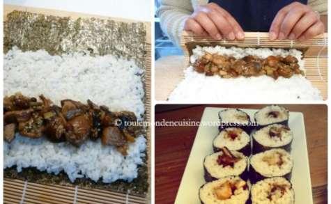 Makis végétariens aux champignons
