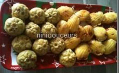 Madeleine chorizo/ comté et jambon/ pesto/ kiri