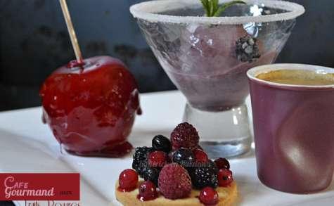 Café gourmand aux fruits rouges