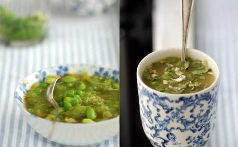 Soupe verte aux 5 légumes
