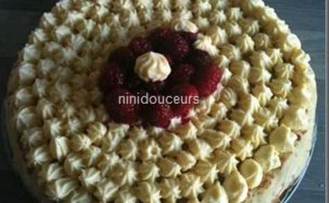 Gâteau de crêpes à la framboise
