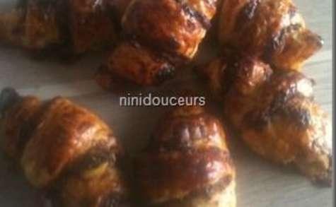 Croissants chocolat smarties et chocolat spéculos