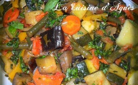 poêlée de légumes au basilic