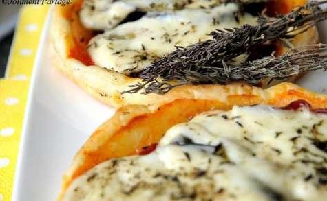 Tartelettes aubergine, coppa et mozzarella