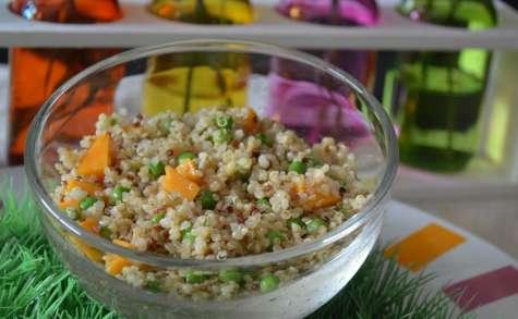 Taboulé de quinoa, boulgour, petits pois et mimolette