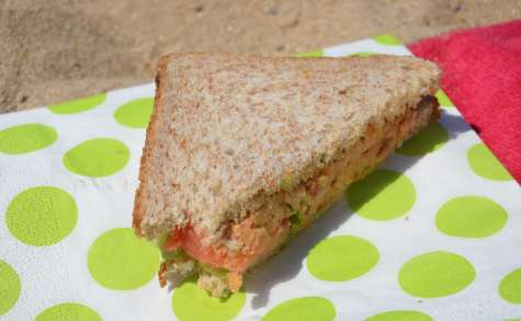 Club-sandwich tomates pois-chiche