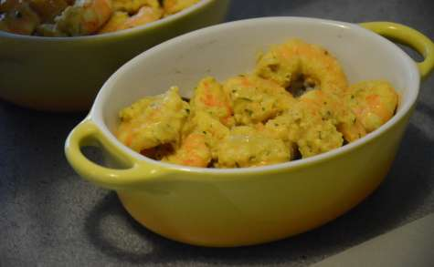 Cocottes de crevettes épicées