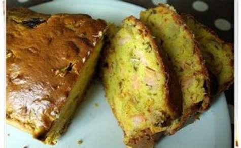 Cake endives carotte saumon fumé