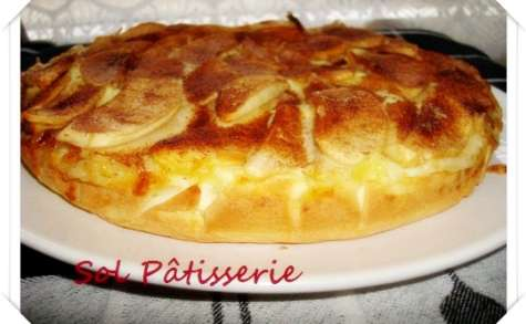 Gâteau crèmeux aux pommes