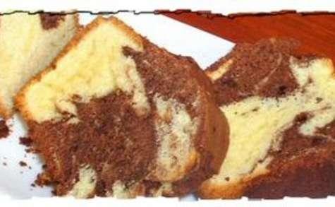 Cake marbré au chocolat noir et à l'orange