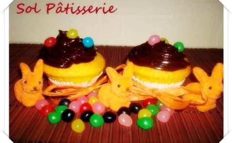 Cupcakes aux carottes et ganache au chocolat