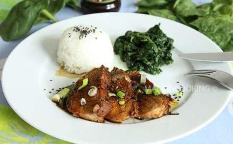 Filet mignon à la sauce yakitori