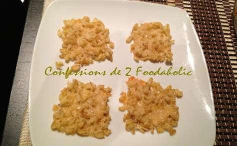 Chips de blé au parmesan