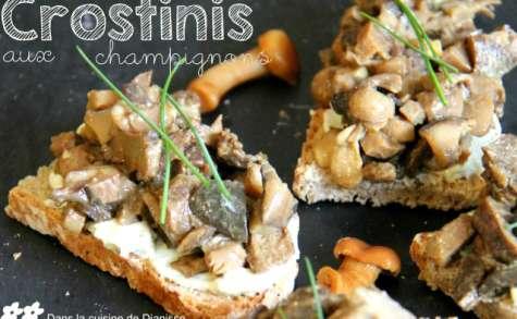 Crostinis aux champignons