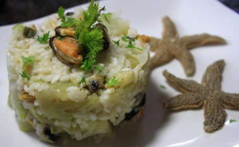 Risotto de la mer moules et fenouil
